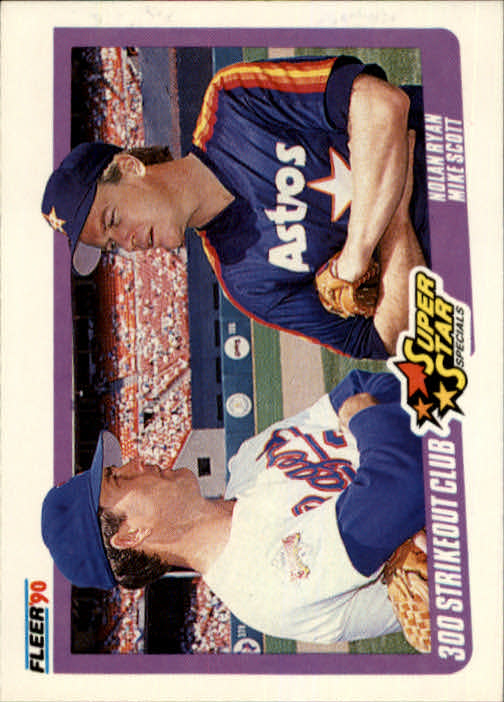1990 Fleer #636 Nolan Ryan/Mike Scott