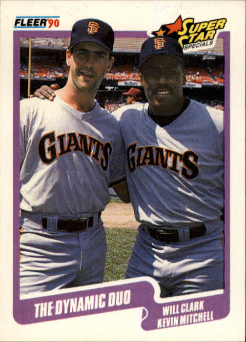1990 Fleer #637 Will Clark/Kevin Mitchell