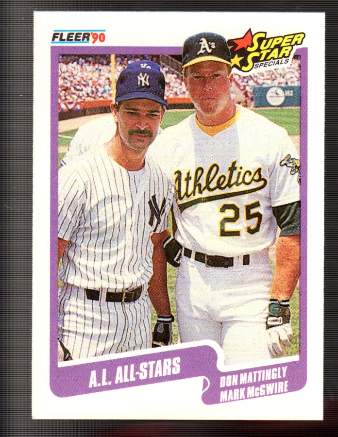 1990 Fleer #638 Don Mattingly/Mark McGwire front image