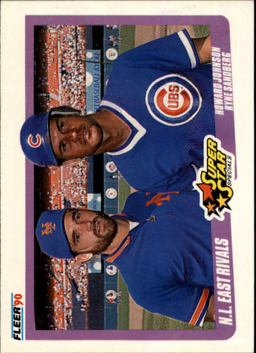 1990 Fleer #639 Howard Johnson/Ryne Sandberg