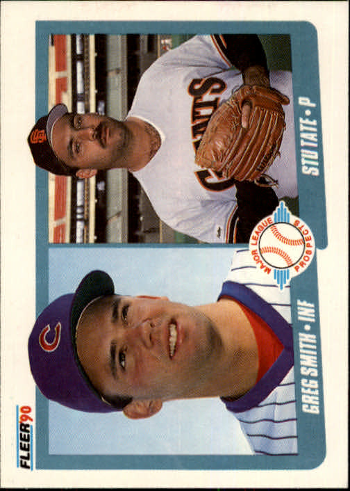 1990 Fleer #643 Greg Smith/Stu Tate front image