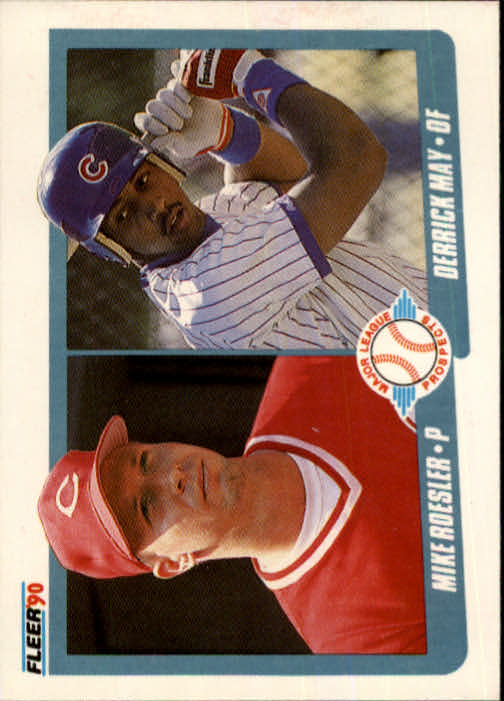 1990 Fleer #645 Mike Roesler RC/Derrick May