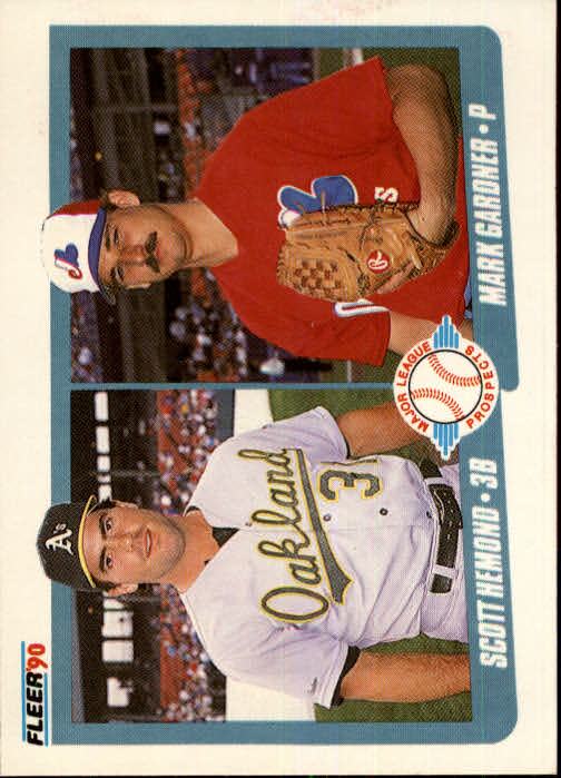 1990 Fleer #646 Scott Hemond RC/Mark Gardner RC