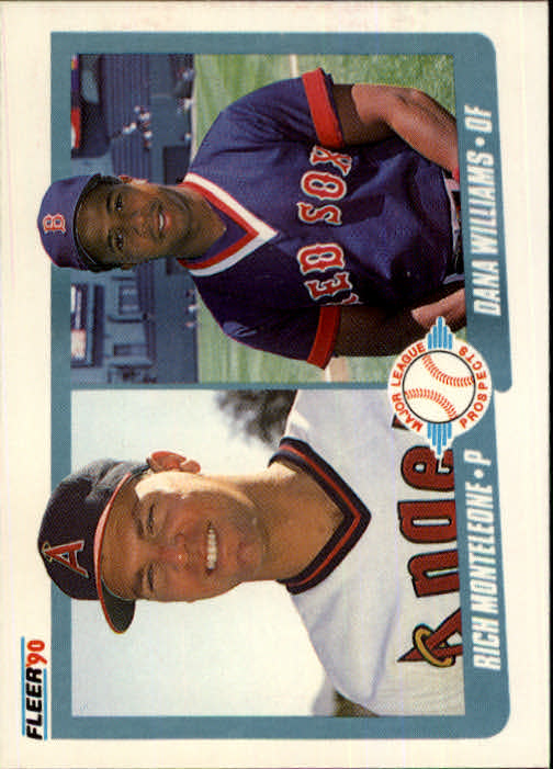 1990 Fleer #648 Rich Monteleone/Dana Williams