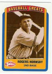 1990 Swell Baseball Greats #51 Rogers Hornsby