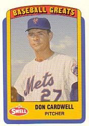1990 Swell Baseball Greats #72 Don Cardwell