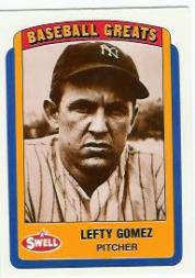 1990 Swell Baseball Greats #84 Lefty Gomez front image
