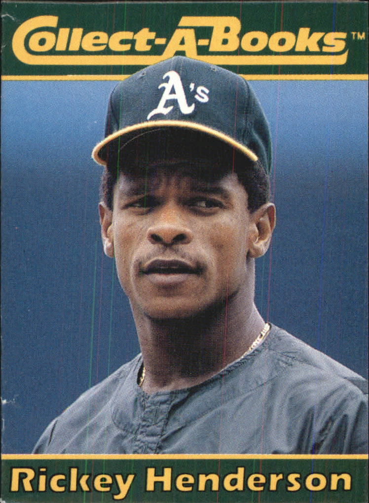 1990 Collect-A-Books #8 Rickey Henderson