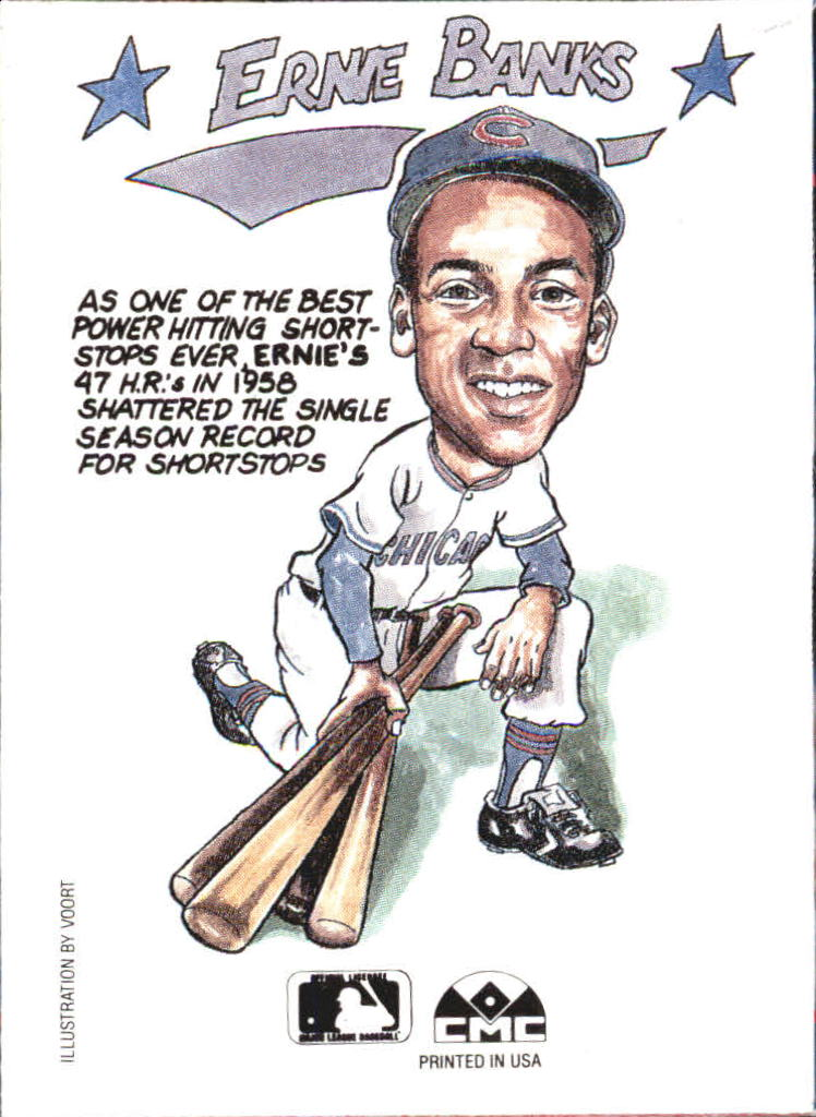 1990 Collect-A-Books #11 Ernie Banks back image
