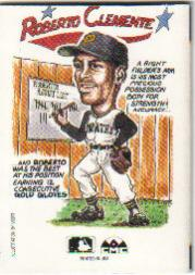 1990 Collect-A-Books #35 Roberto Clemente back image