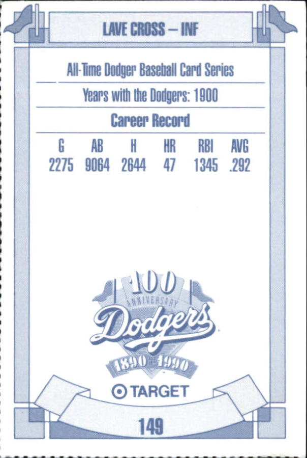 1990 Dodgers Target #149 Lave Cross