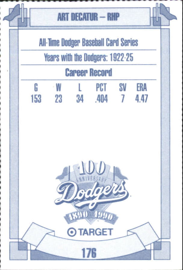 1990 Dodgers Target #176 Art Decatur