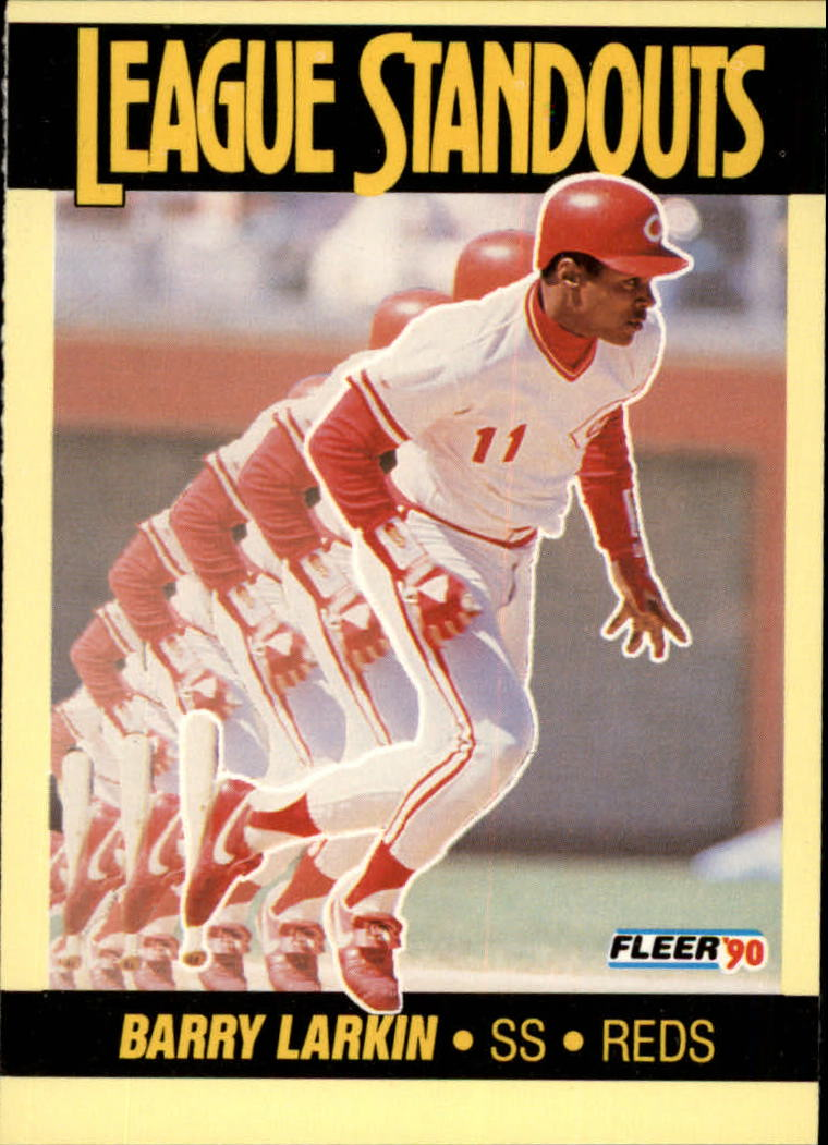 1990 Fleer League Standouts #1 Barry Larkin