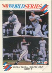 1990 Fleer World Series #10 Dave Parker/Jose Canseco/Will Clark