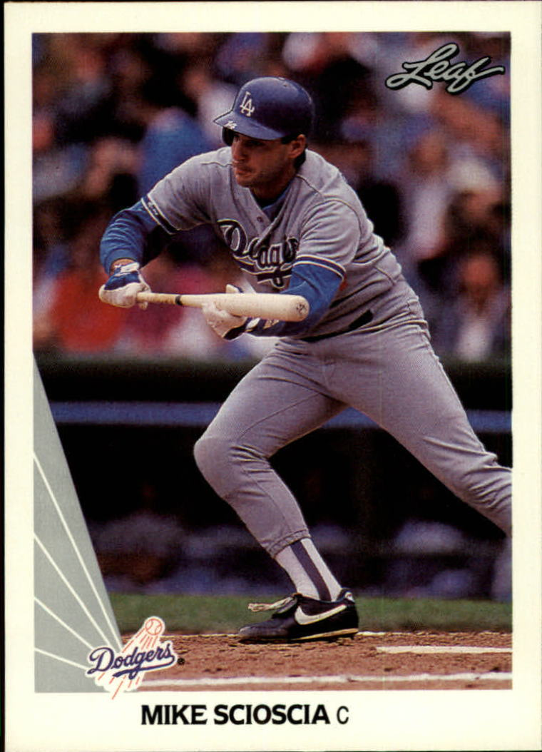 1990 Leaf #49 Mike Scioscia