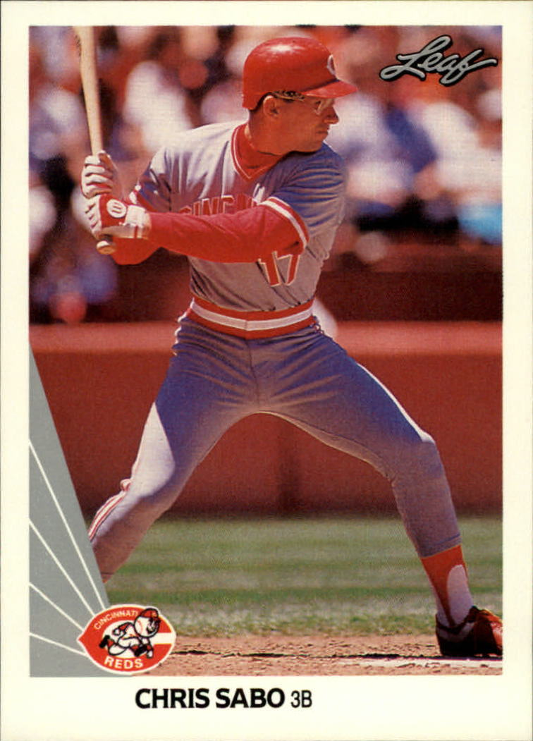 1990 Leaf #146 Chris Sabo