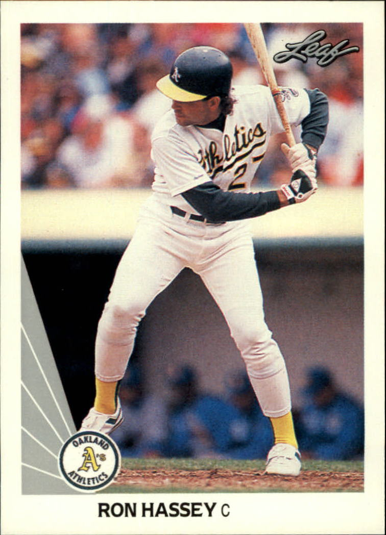 1990 Leaf #326 Ron Hassey
