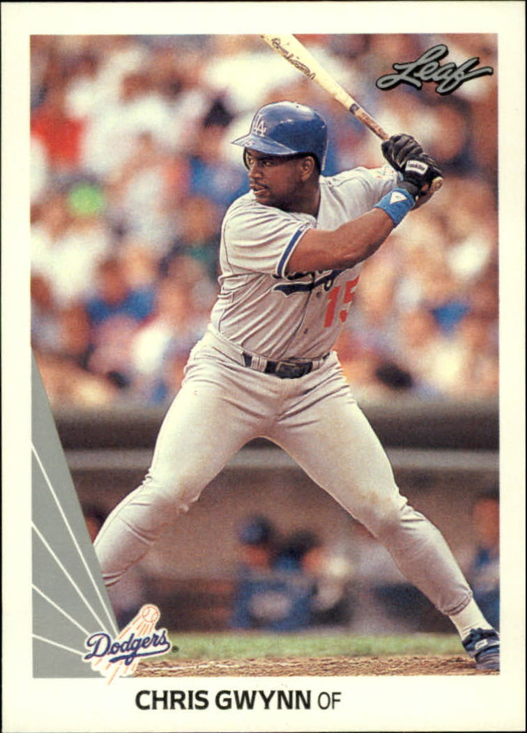 1990 Leaf #411 Chris Gwynn