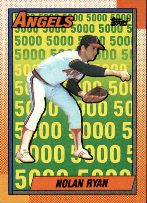 1990 Topps #3 Nolan Ryan Salute/California Angels