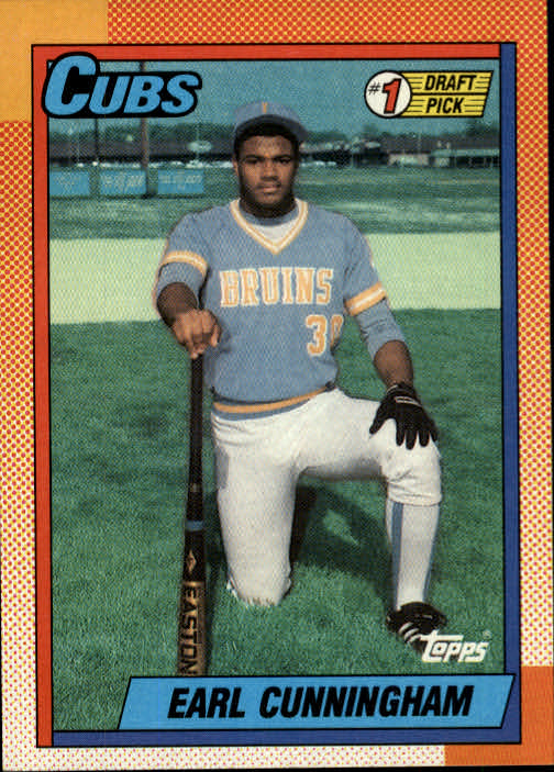 1990 Topps #134 Earl Cunningham FDP RC
