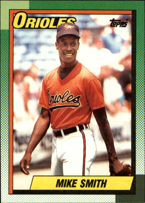 1990 Topps #249 Mike (Texas) Smith RC