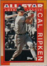 1990 Topps Tiffany #388 Cal Ripken AS