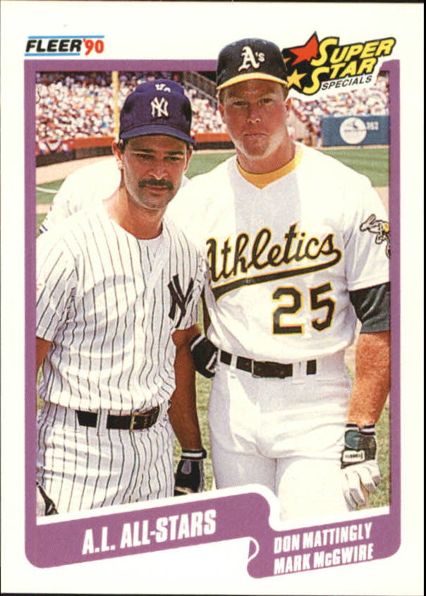 1990 Fleer Canadian #638 AL All-Stars/Don Mattingly/Mark McGwire