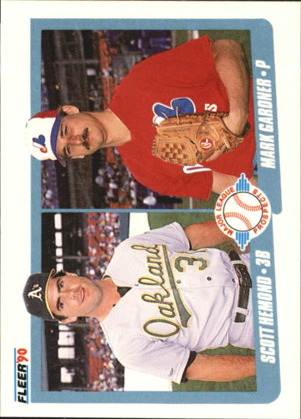 1990 Fleer Canadian #646 Scott Hemond/and Mark Gardner