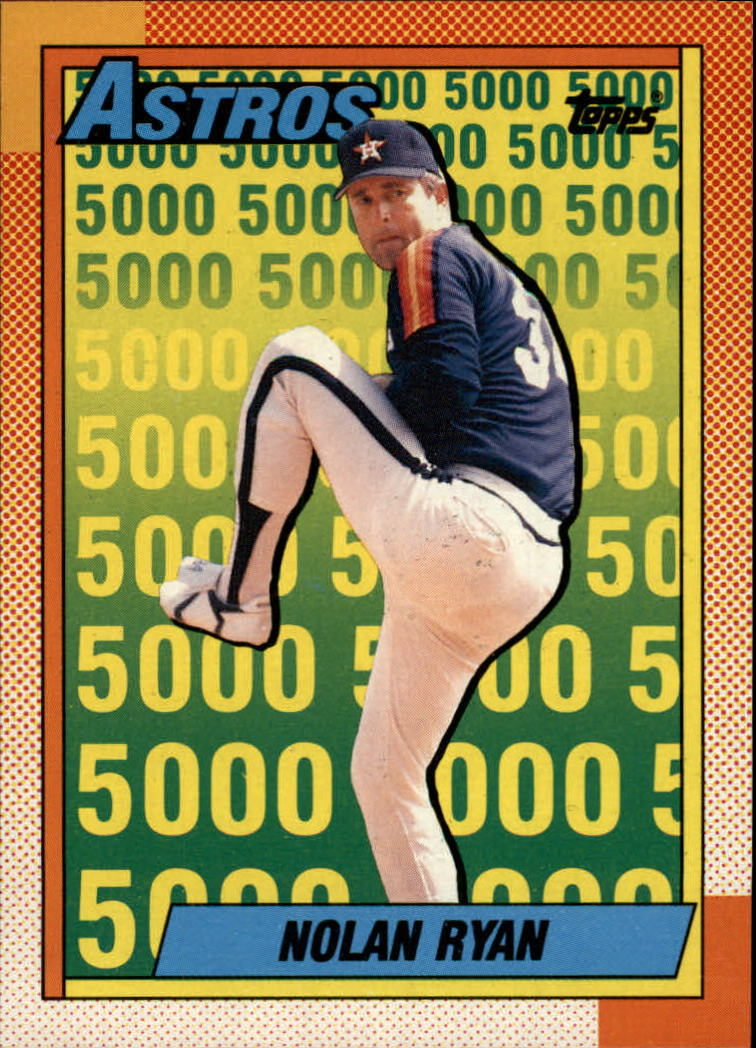 1990 O-Pee-Chee #4 Nolan Ryan Salute/Houston Astros