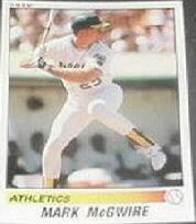 1990 Panini Stickers #132 Mark McGwire