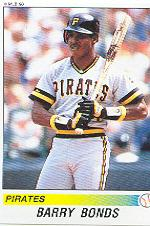 1990 Panini Stickers #322 Barry Bonds