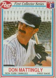 1990 Post #1 Don Mattingly