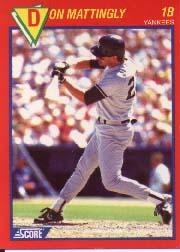 1990 Score 100 Superstars #10 Don Mattingly