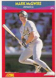 1990 Score 100 Superstars #25 Mark McGwire