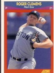 1990 Score 100 Superstars #79 Roger Clemens