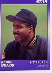 1990 Star Bonds #1 Barry Bonds/Checklist