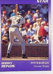1990 Star Bonds #2 Barry Bonds/Career Stats