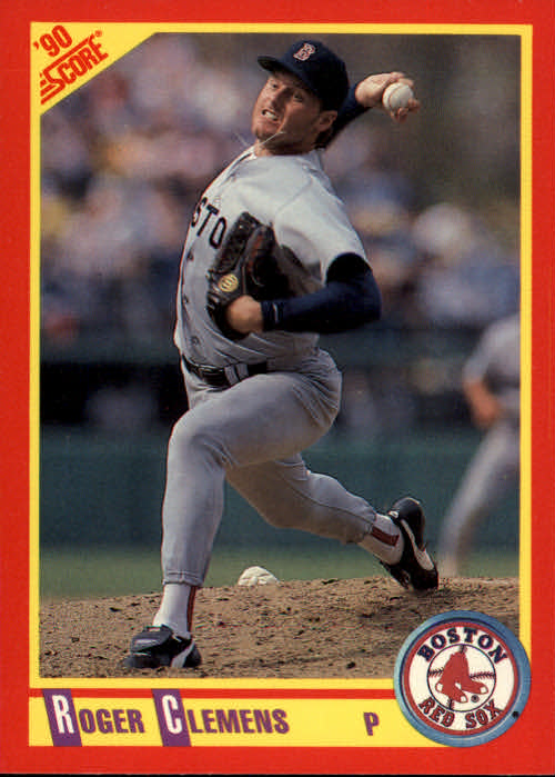 1990 Score #310 Roger Clemens UER/Dominate, should/say dominant