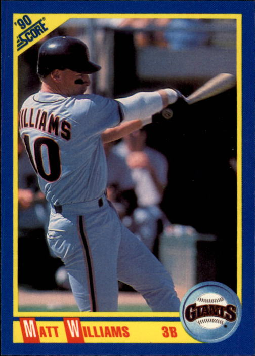 1990 Score #503 Matt Williams