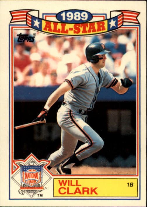 1990 Topps Glossy All-Stars #2 Will Clark
