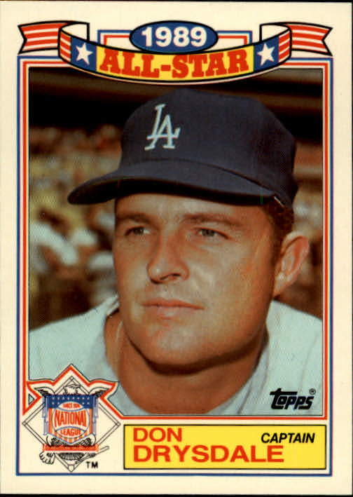 1990 Topps Glossy All-Stars #11 Don Drysdale CAPT