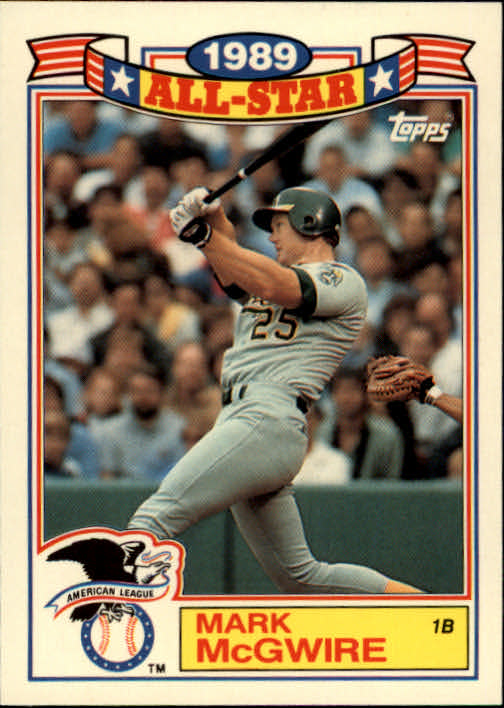 1990 Topps Glossy All-Stars #13 Mark McGwire