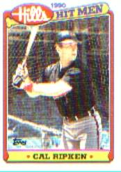 1990 Topps Hills Hit Men #32 Cal Ripken