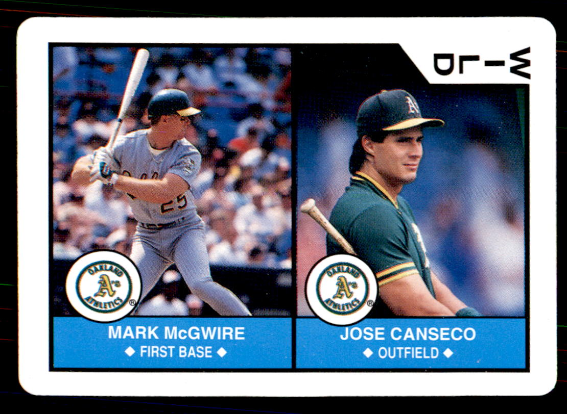 1990 U.S. Playing Cards All-Stars #WCO Wild Card/Mark McGwire/Jose Canseco