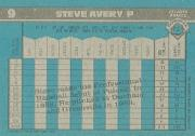 1990 Bowman #9 Steve Avery back image