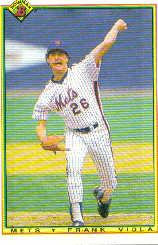 1990 Bowman #122 Frank Viola UER/(Career ERA .384/should be 3.84
