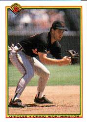 1990 Bowman #253 Craig Worthington