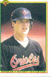 1990 Bowman #254 Mickey Tettleton