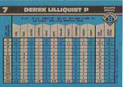 1990 Bowman Tiffany #7 Derek Lilliquist back image