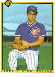 1990 Bowman Tiffany #27 Greg Maddux